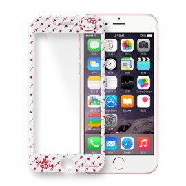 Hello Kitty滿版玻璃保護貼 [趣點] iPhone 6 6S / iPhone 6 Plus 6S Plus【三麗鷗正版】