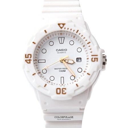 CASIO卡西歐 運動白色女膠錶 柒彩年代【NEC9】 - 限時優惠好康折扣