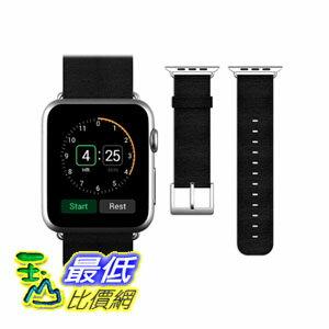 [104美國直購] JETech 錶帶 42mm Genuine Leather Strap Wrist Band for Apple Watch 黑/淺卡其 兩色 $1198