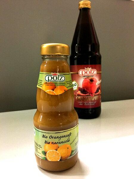 POLZ 德國好鮮有機石榴汁 750ml 現折外,再送 POLZ德國好鮮柳橙汁200ml乙瓶 市價$85