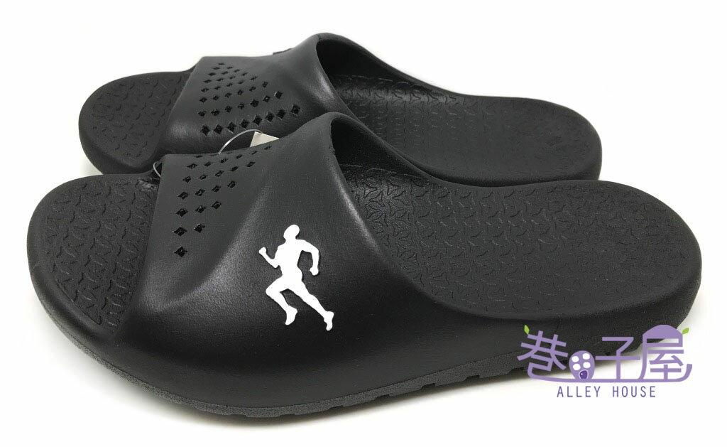 【巷子屋】JIMMY POLO 男款一體成型防水運動拖鞋 [76004] 黑 MIT台灣製造 超值價$198