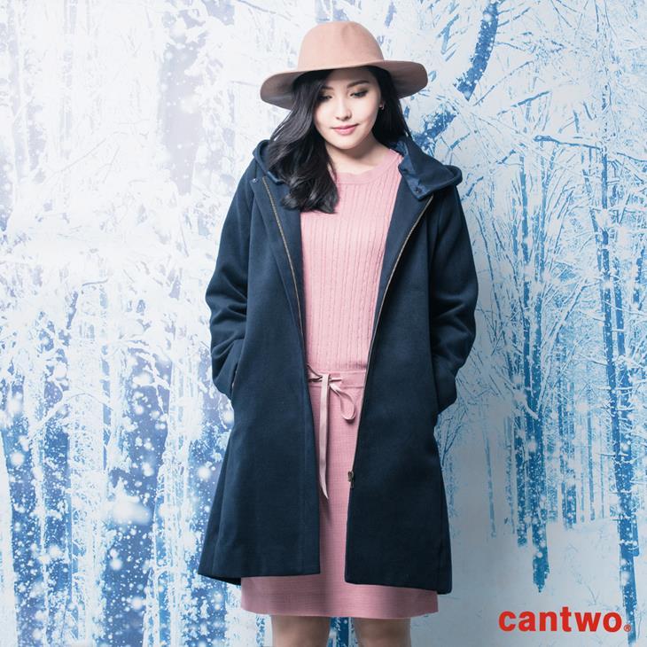 cantwo俐落H線條連帽大衣(共二色) 0
