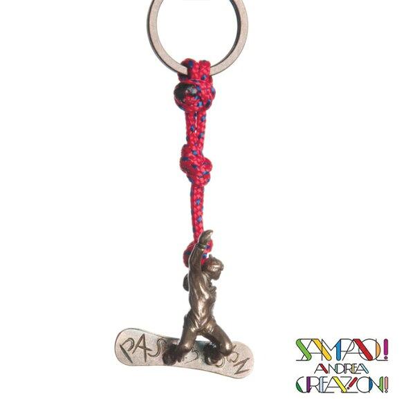 【SAC義大利】青銅掛飾吊飾-Snowboarder義大利傳統飾品工藝SAC40