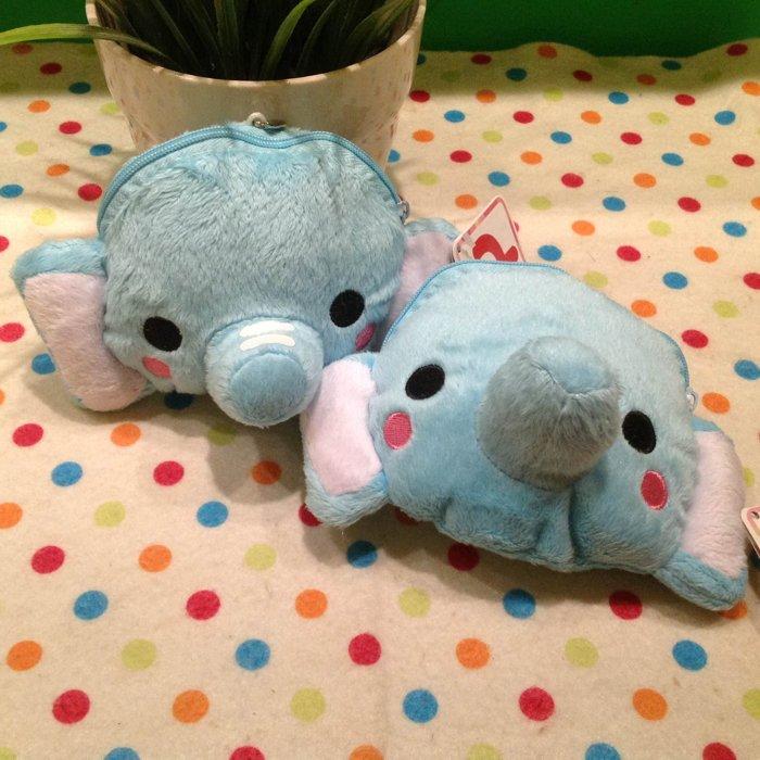 =優生活=【特價$100】可愛立體大象零錢包 收納包 吊飾 錢包 超萌大象錢包