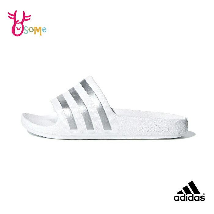 adidas拖鞋 兒童拖鞋 男女童拖鞋 防水拖鞋 運動拖鞋 室內室外拖鞋 S9354#白色◆OSOME奧森鞋業
