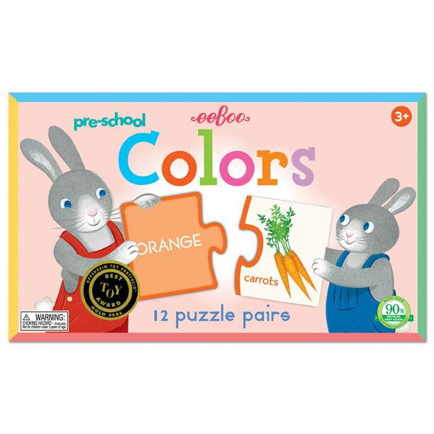 [ eeBoo ]  配對拼圖 —   Pre-school Colors Puzzle Pairs (認識顏色)
