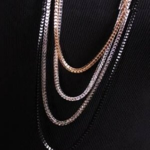 美麗大街~GX0326~ 大氣 百搭金屬4層多色鏈條項鍊毛衣鏈