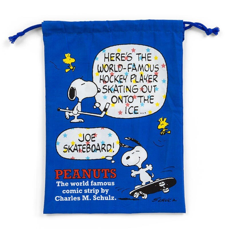【真愛日本】17121200015 日本製純綿束口袋-SN想像對話ABP 史努比 SNOOPY 提袋 束口袋 日用品