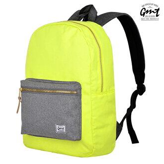 E&J【011007-01】免運費,GMT挪威潮流品牌 撞色後背包 黃色 附15吋筆電夾層;登山包/雙肩豬鼻背包