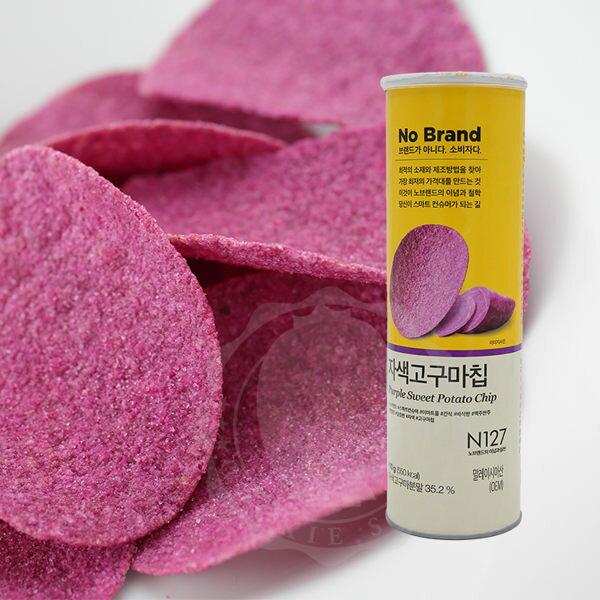韓國 No Brand 紫心紅薯洋芋片 110g 紫薯洋芋片 紅薯洋芋片 紫色薯片 洋芋片