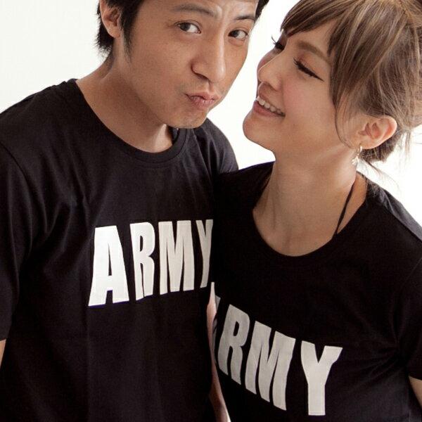 ◆快速出貨◆T恤.可客製化.情侶裝.純棉短T.MIT台灣製.班服.ARMY字母【D1528】艾咪E舖