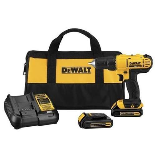 """DEWALT 20V MAX Li-Ion 1/2"""" Compact Drill Driver Kit DCD771C2 0"""