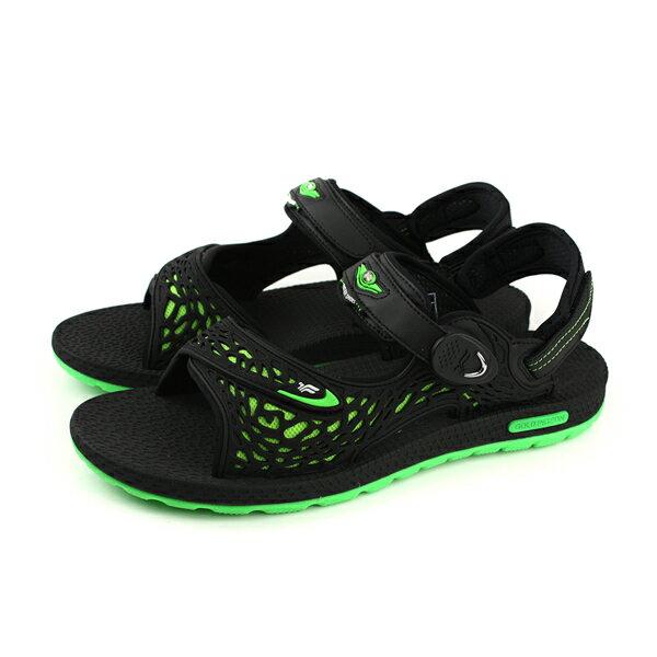 GP(Gold.Pigon)阿亮代言涼鞋防水雨天黑綠男鞋G8660M-60no844