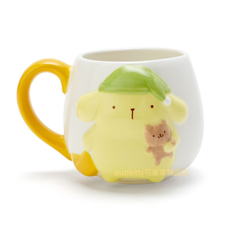 asdfkitty*布丁狗睡帽浮雕陶瓷馬克杯/咖啡杯-日本正版商品