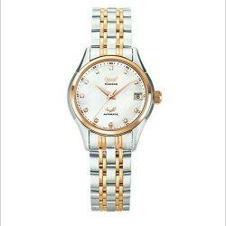 愛其華 旗鑑真鑽經典機械腕錶-白貝x雙色版/34mm  型號3356AJBSR  免運費