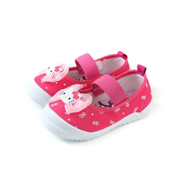 Hello Kitty 凱蒂貓 娃娃鞋 室內鞋 桃紅色 中童 童鞋 719818 no785 0