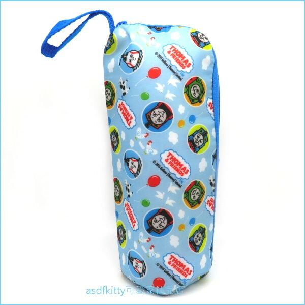 asdfkitty可愛家☆湯瑪士小火車保冷水壺袋水壺套-不滴水-開口拉鍊設計-附提帶-日本正版商品