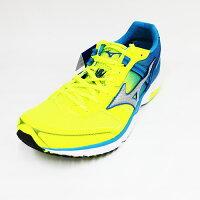 男性慢跑鞋到28CM~MIZUNO 美津濃 男 WAVE EMPEROR3皇速 輕量 耐磨 競速 慢跑鞋 J1GA187604 螢光黃/藍[陽光樂活]就在陽光運動館推薦男性慢跑鞋