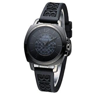 COACH 時尚風格C LOGO面盤女腕錶/全黑/34mm/14502096