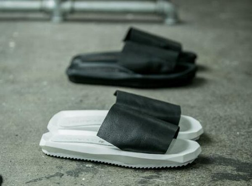 FINDSENSEMD日系高品質男時尚淩型鞋底頭層牛皮潮鞋拖鞋一字拖拖鞋海灘鞋