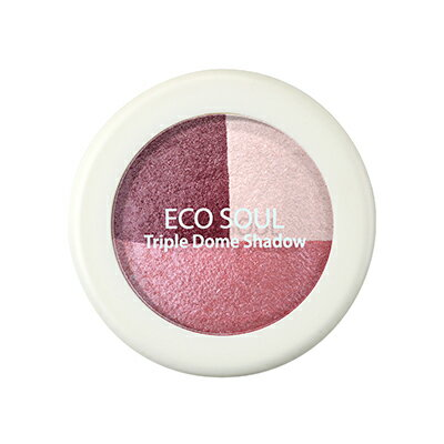 【即期良品】韓國the SAEM Eco Soul 三色眼影盤-6.5g Eco Soul Triple Dome Shadow【辰湘國際】 3