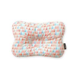 韓國【Borny】 3D透氣蜂巢塑型嬰兒枕(0~6個月適用)(橘線筆)
