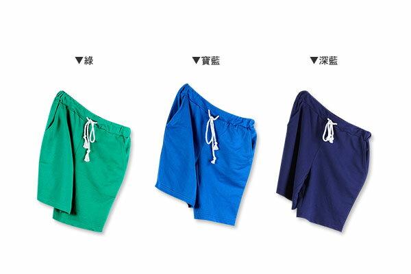 ☆BOY-2☆【NQ91005】棉褲  素面簡約抽繩短褲 2