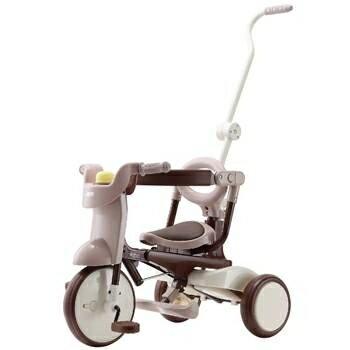 【淘氣寶寶】【日本iimo】【升級款】日本iimo #02兒童三輪車(折疊款-棕色)【保證公司貨】