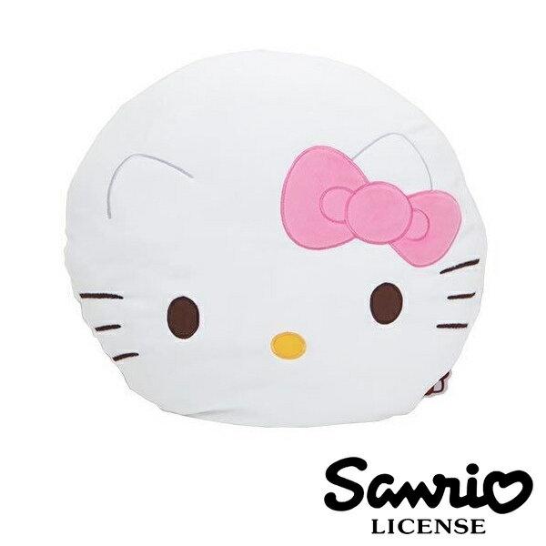 粉紅款【日本進口正版】 Hello Kitty 絨面大抱枕 靠墊 午安枕 三麗鷗 凱蒂貓 - 414054