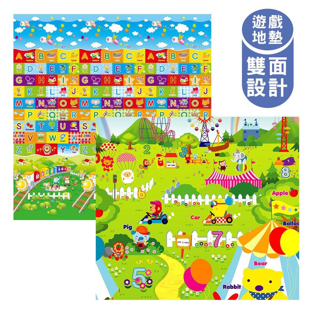 泰山美龍 兒童遊戲地墊 (火車ABC+動物樂園) 180*200*1.5cm【紫貝殼】 0