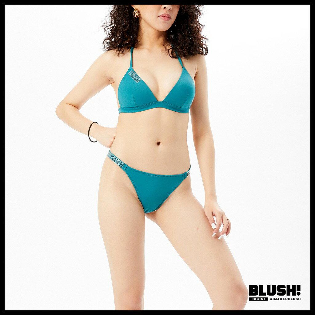 BLUSH! 鑲晶寬帶三角褲 - 翡翠綠