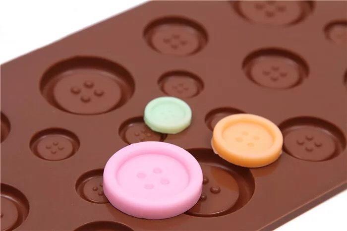 【八八八】e網購【紐扣造型矽膠蛋糕模】NO135 巧克力冰格手工皂模 巧克力紐扣模具