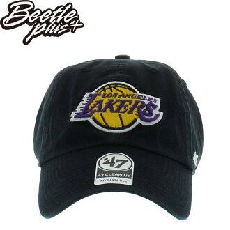BEETLE 47 BRAND 洛杉磯 湖人 LOS ANGELES LAKERS 老帽 DAD NBA 全黑 LOGO MN-419