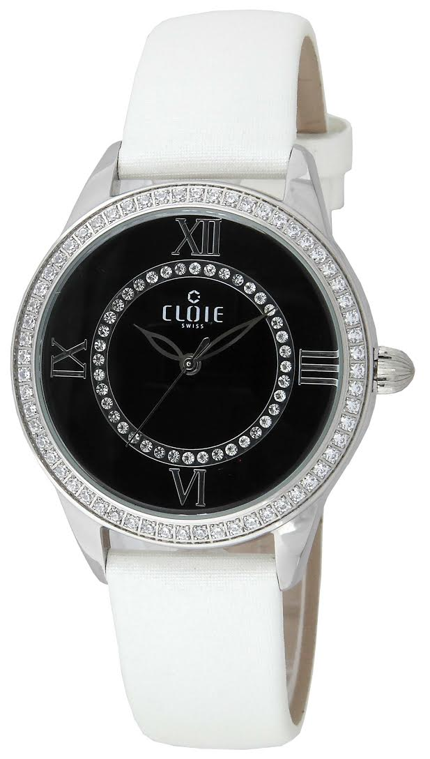CLOIE 羅馬星光 腕錶~黑x銀 37mm CL10015~WM04