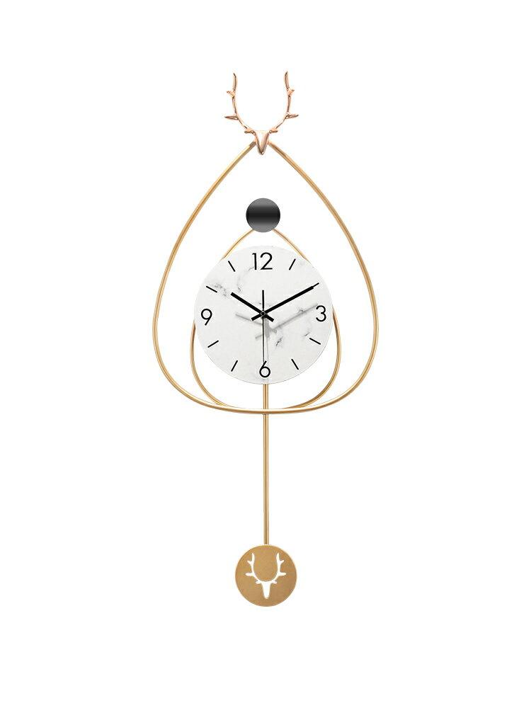 北歐風掛鐘 北歐輕奢鐘表掛表大氣家用時尚現代簡約時鐘客廳掛牆藝術裝飾掛鐘【DD35112】