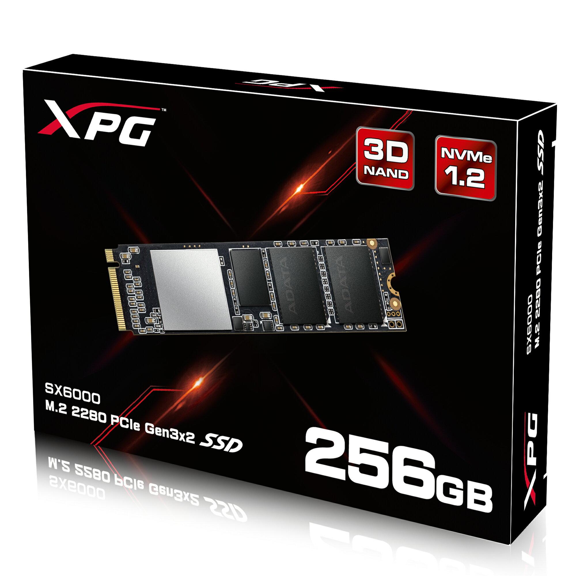 XPG SX6000 PCIe Gen3x2 M.2 2280 256GB SSD by ADATA with DIY XPG Heatsink 0