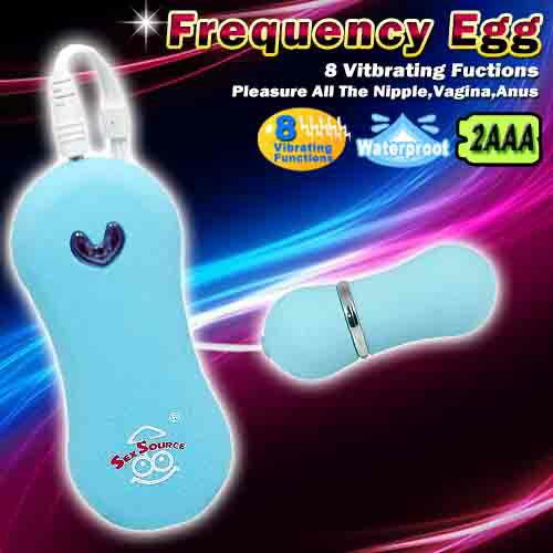 ◤跳蛋情趣跳蛋◥ Frequency Egg 8段變頻超靜音燈光跳蛋-藍【ViVi情趣精品】 【跳蛋 名器 自慰器 按摩棒 情趣用品 】