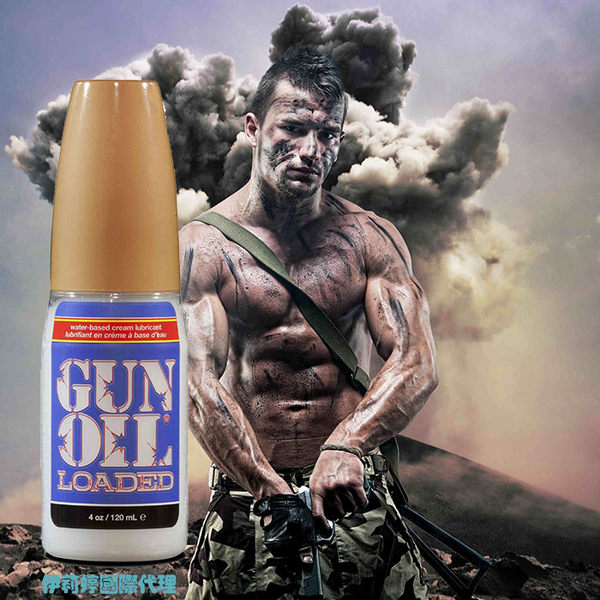 ◤木子李情趣◥  美國 Empowered Products Gun Oil Loaded 最新混合型潤滑液 4oz 120ml 【跳蛋 名器 自慰器 按摩棒 情趣用品 】