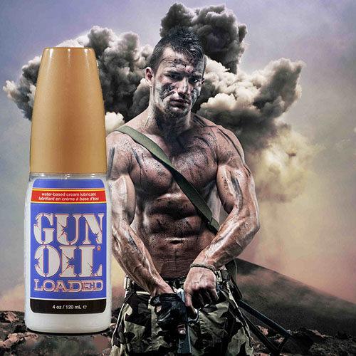 ◤潤滑液情趣潤滑液高潮潤滑液◥ 美國Empowered Products*Gun Oil Loaded 最新混合型潤滑液 4oz (120ml) 【跳蛋 名器 自慰器 按摩棒 情趣用品 】