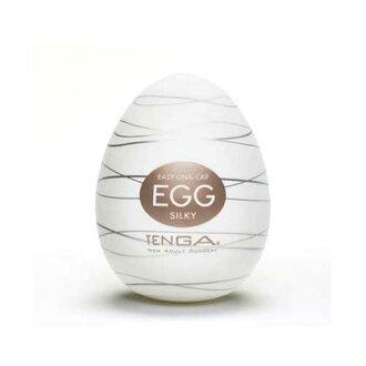 ◤飛機杯自慰杯自慰◥ 日本TENGA-EGG-006 SILKY 細紋交織狀爽蛋【跳蛋 名器 自慰器 按摩棒 情趣用品 】