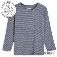 婦嬰用品-童裝推薦Little moni 發熱紗系列Mo2Heat圓領上衣-條紋(好窩生活節)。就在麗嬰房婦嬰用品-童裝推薦