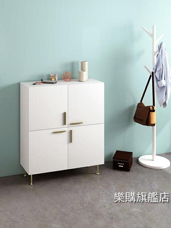 北歐鞋櫃 簡約現代小戶型客廳儲物櫃玄關櫃創意大容量門廳櫃 XW