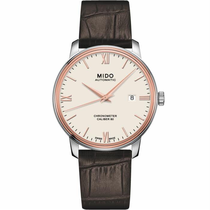 Mido 美度錶 M0274084626800 Baroncelli系列天文台皮革腕錶  / 40mm - 限時優惠好康折扣