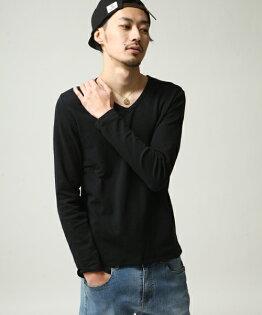 橫條紋T恤BLACK