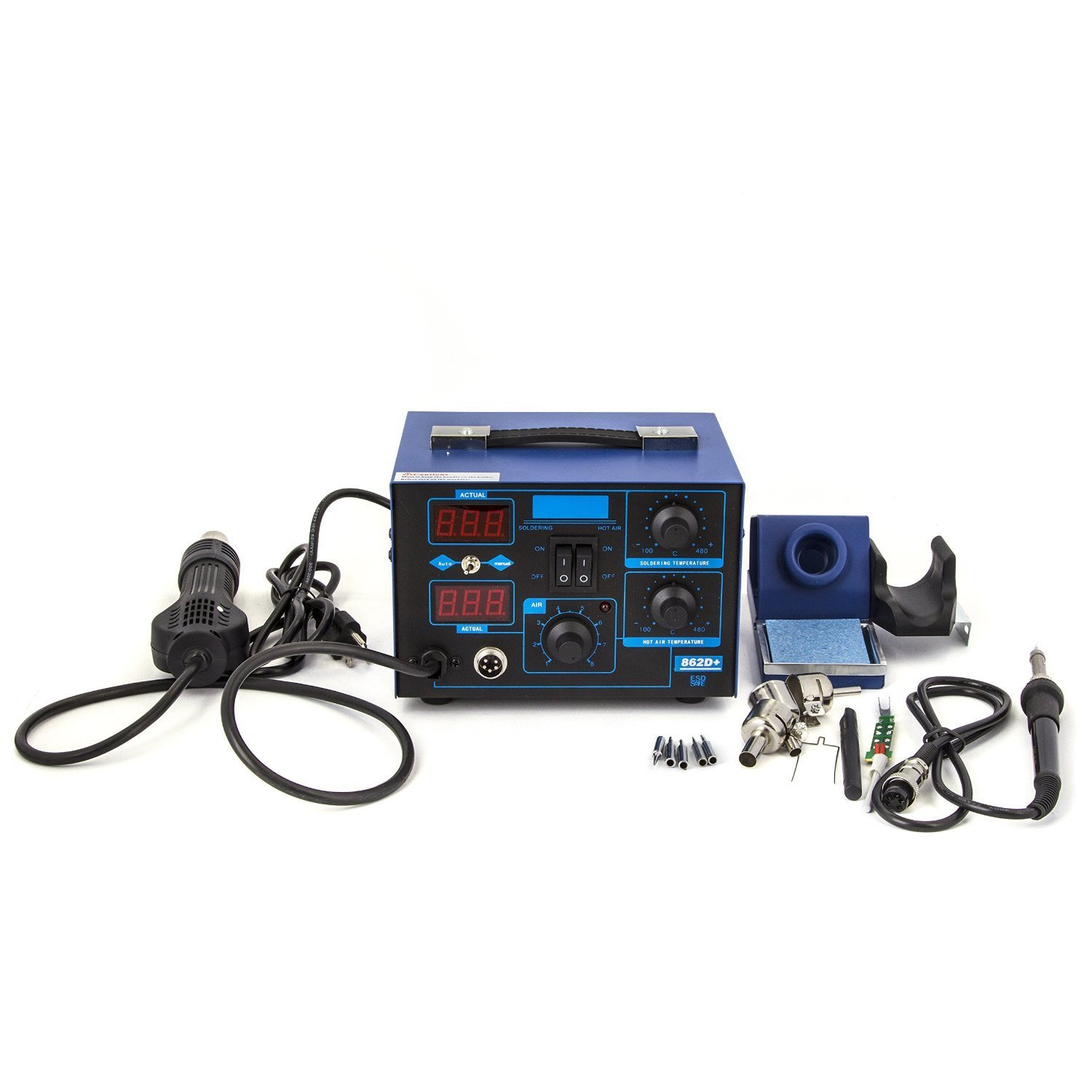 Kendal 2 IN 1 SMD HOT AIR REWORK SOLDERING IRON STATION 862D+ 0