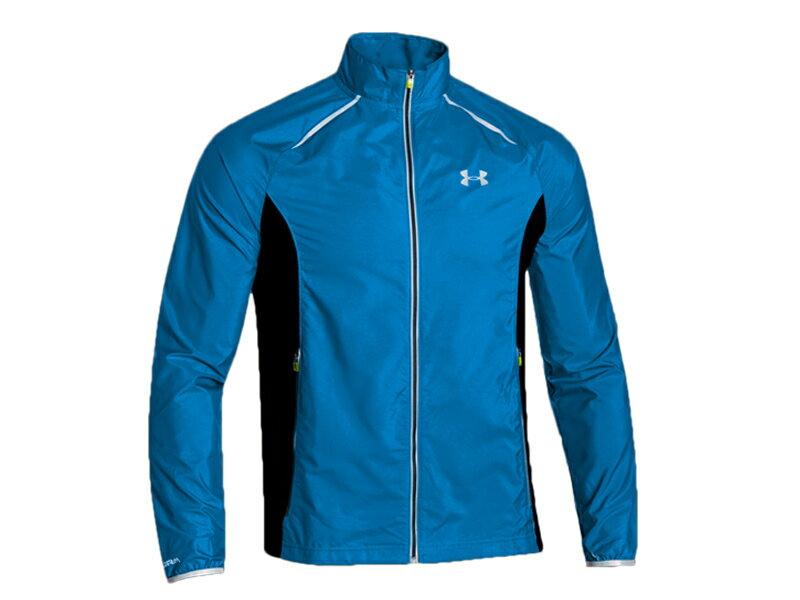 《UA出清5折》Shoestw【1253577-407】UNDER ARMOUR UA服飾 外套 慢跑運動外套 風衣 藍黑 男生