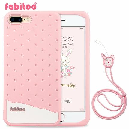 蘋果 Iphone 7 plus 法比兔冰淇淋矽膠套 保護套 Fabitoo Iphone 7 plus 手機保護殼