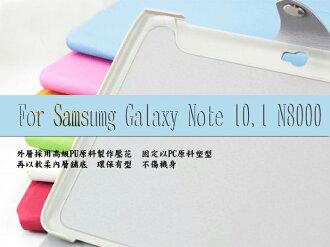 ☆三星 Galaxy Note 10.1吋(N8000)平板專用三折可站立格紋皮套【清倉】