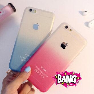 蘋果iPhone 6 4.7吋 小清新彩色漸變磨砂矽膠套 APPLE蘋果6 超薄磨砂TPU軟殼彩虹手機保護殼【預購】