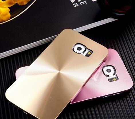 三星Galaxy S6 鐳射旋轉CD紋手機硬殼 Samsung G9200 金屬 背殼 潮